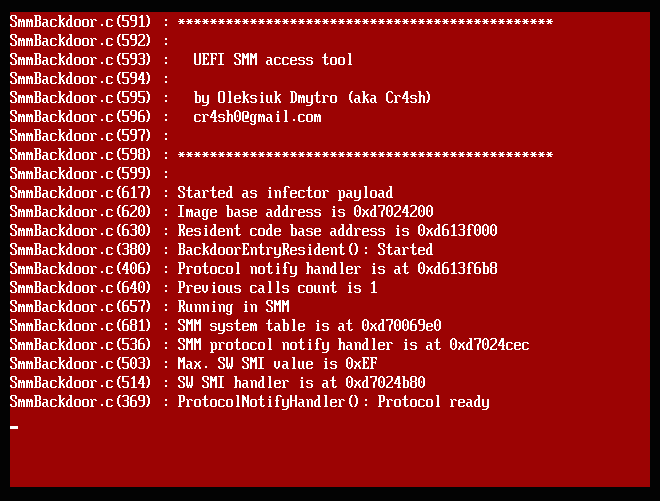 My aimful life: Building reliable SMM backdoor for UEFI based platforms