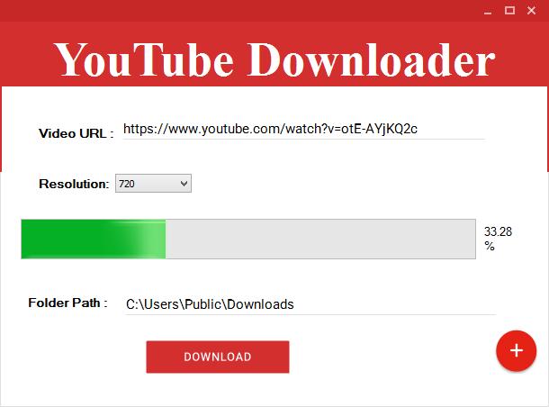Material design youtube downloader c#