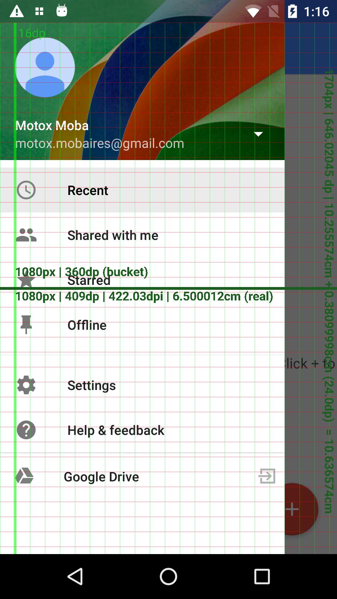Grid Screenshot