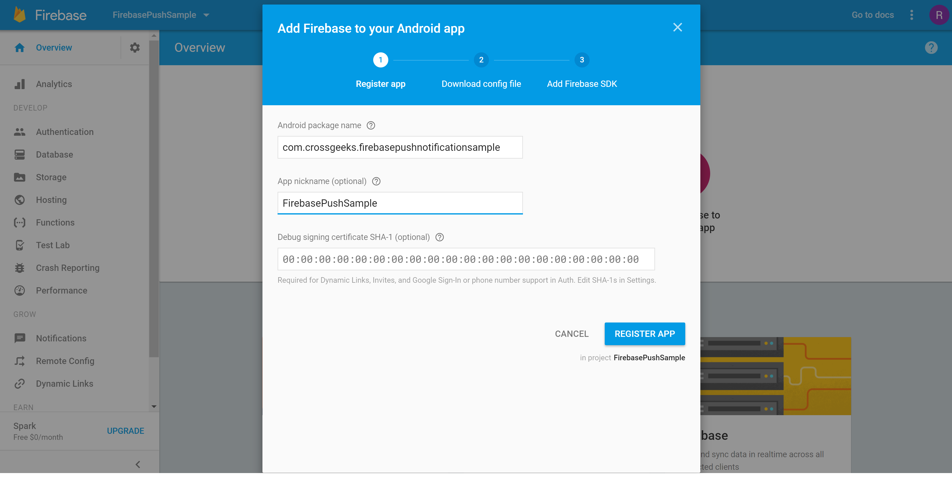 Add Firebase to Android