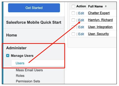 Salesforce Find User