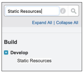Salesforce Search Static Resources