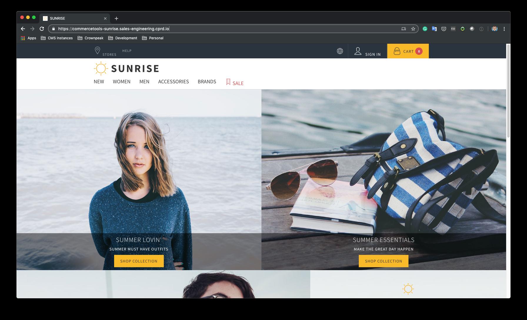 Published Sunrise SPA - on AWS Serverless