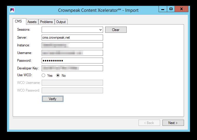 Crownpeak-Content-Xcelerator℠ - Authentication