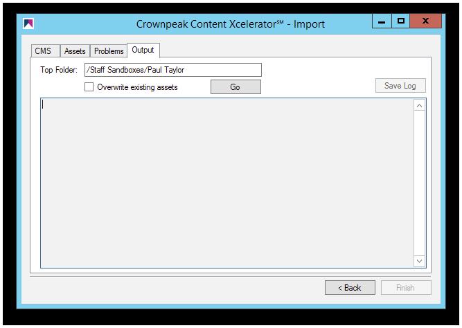 Crownpeak-Content-Xcelerator℠ - Choose Folder Path