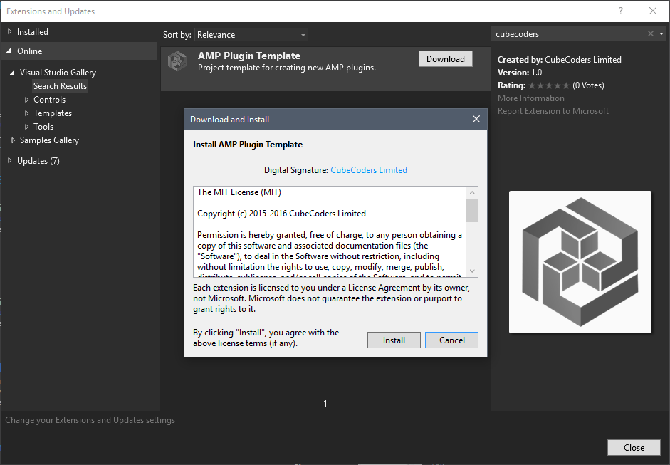 The extension in the Visual Studio Gallery