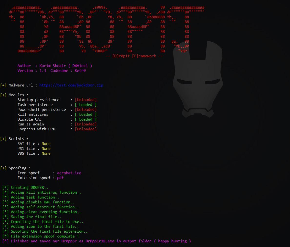 Dr0p1t-Framework