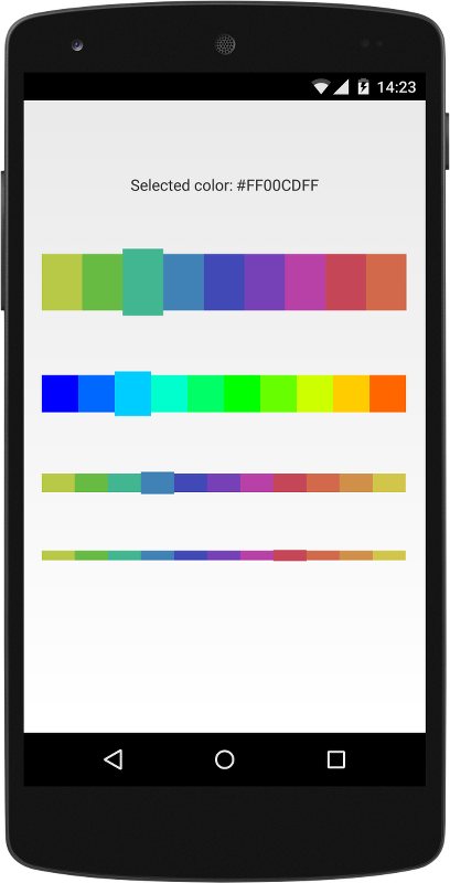 The Android Arsenal - Color Pickers - A categorized