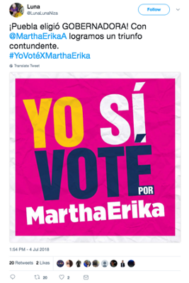 #ElectionWatch: Post-Electoral Bots in Puebla.