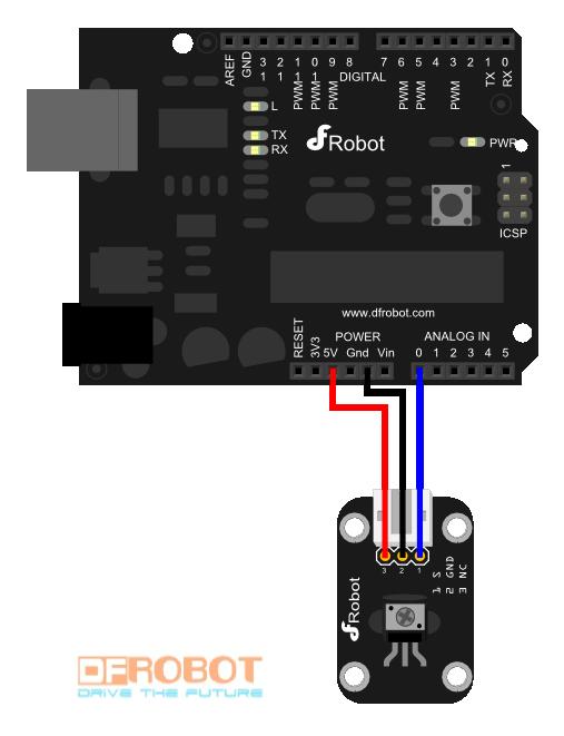 Analog sensor connection diagram