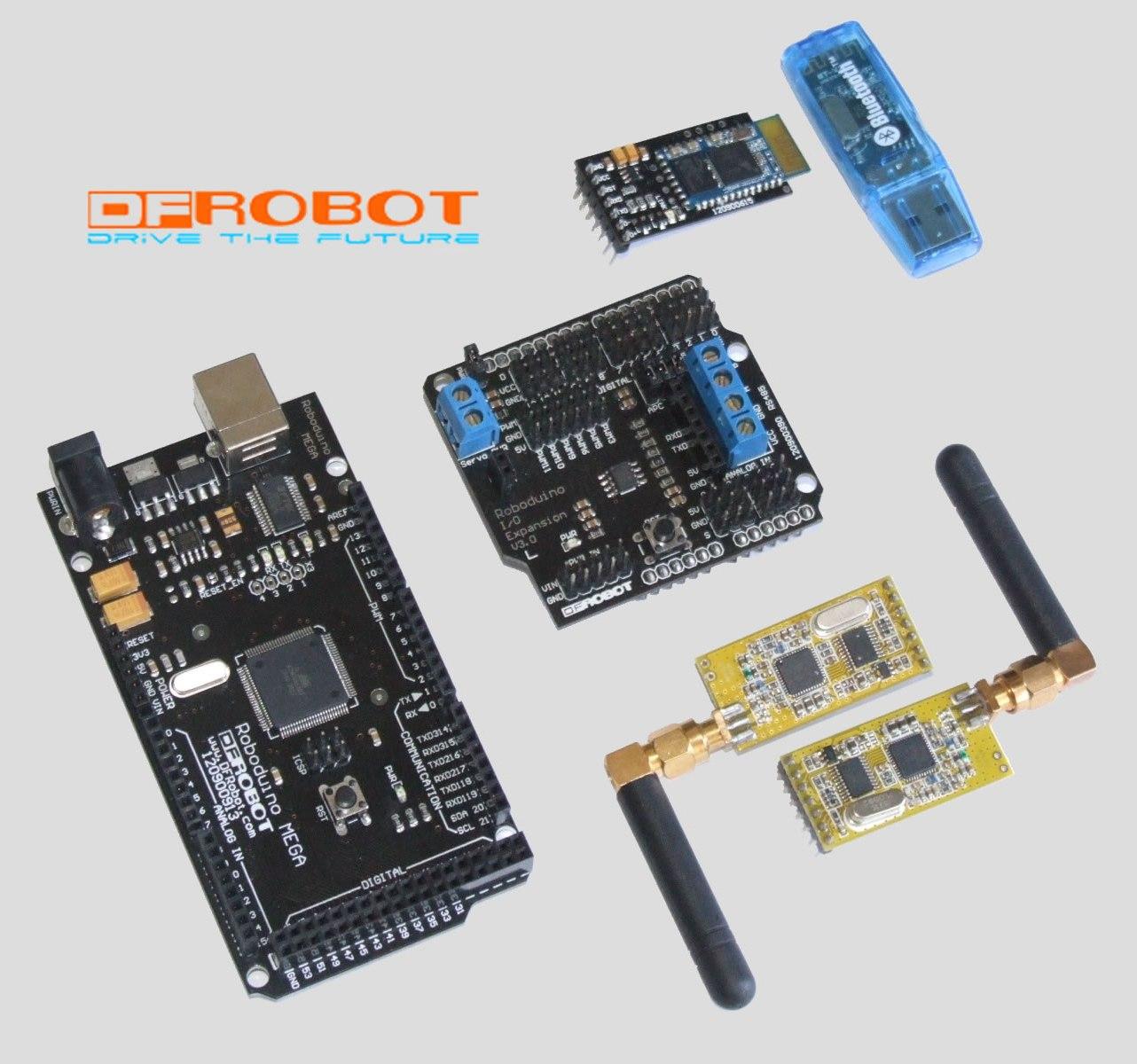 Figure C: Arduino Mega with DF-Bluetooth and APC220 Radio Module
