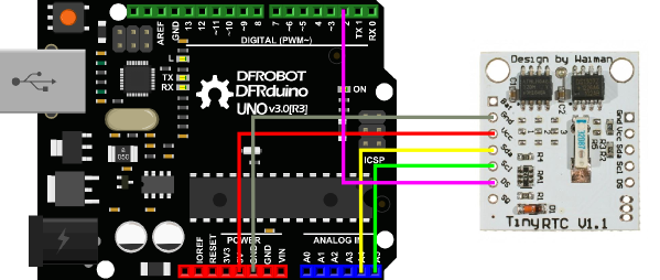 Connection Diagram for Arduino UNO