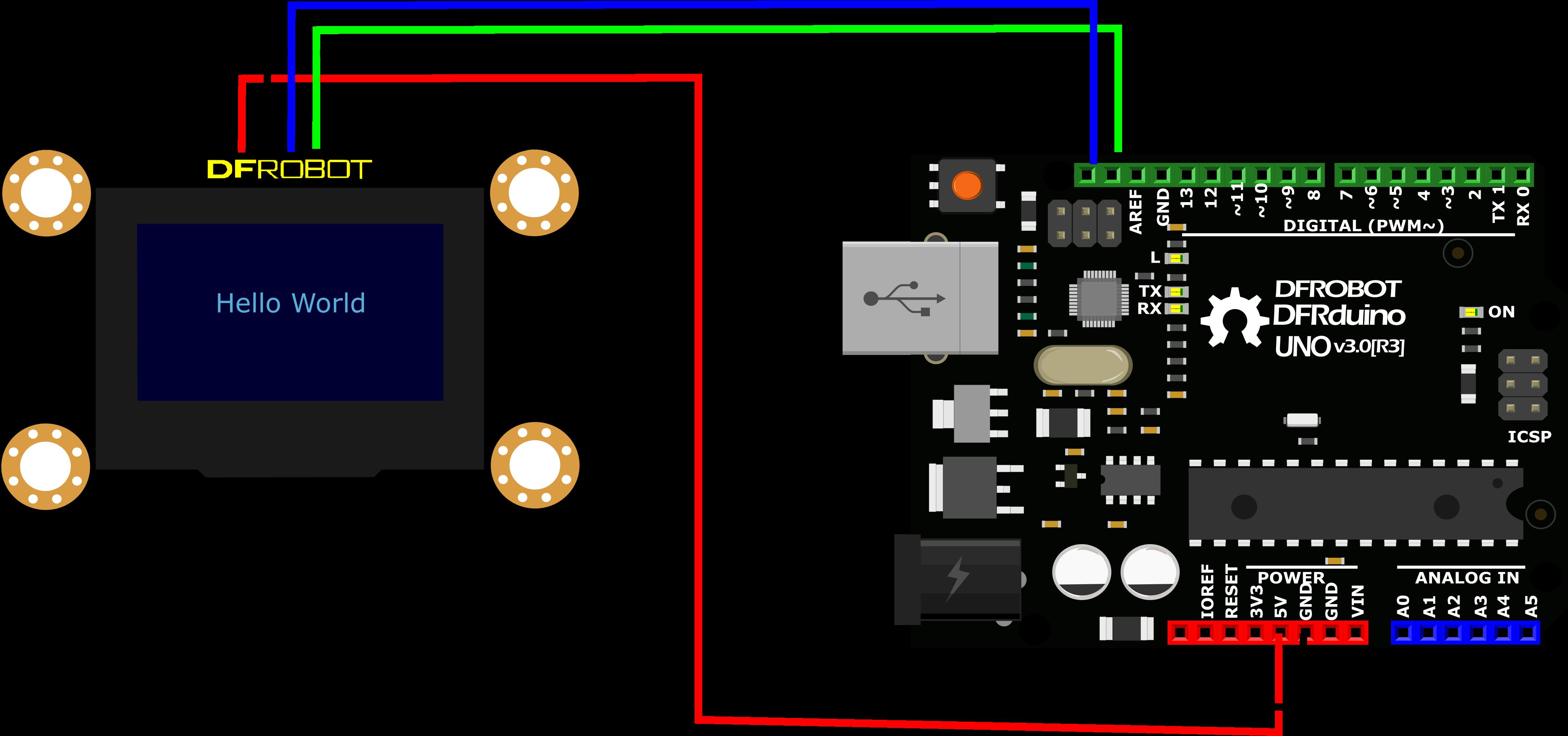 Gravity__I2C_OLED-2864_Display-DFRobot