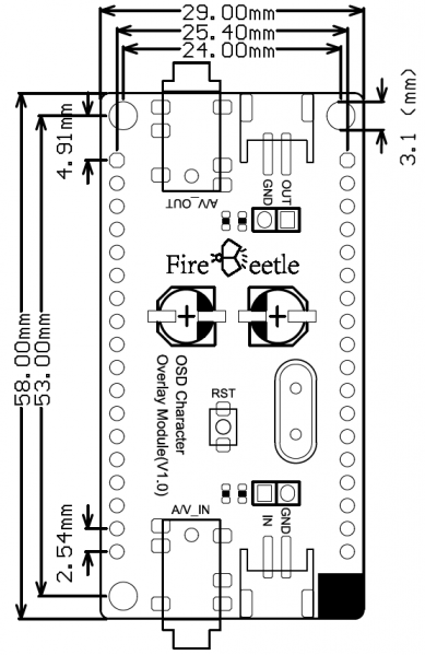 Fig1: FireBeetle Covers-OLED12864 Display