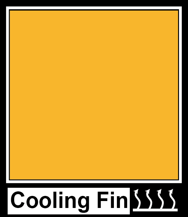 Cooling fin install location