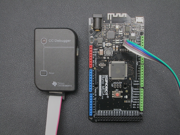 Connect Bluno Mega2560 with CC Debugger