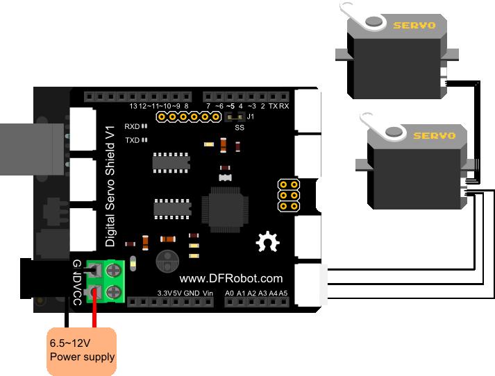 Digital Servo Shield for Ardhuino_Diagram