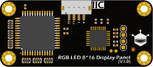 Gravity-I2C 8x16 RGB LED Matrix Panel Back