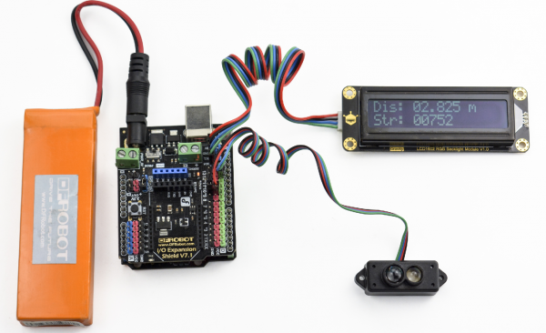 TF Mini LiDAR(ToF) Laser Range Sensor LCD