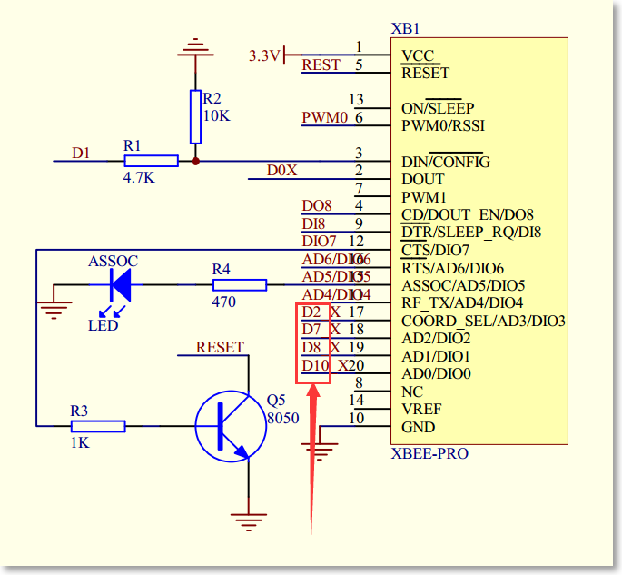 For A4. Xbee pin attached with Relay control pin