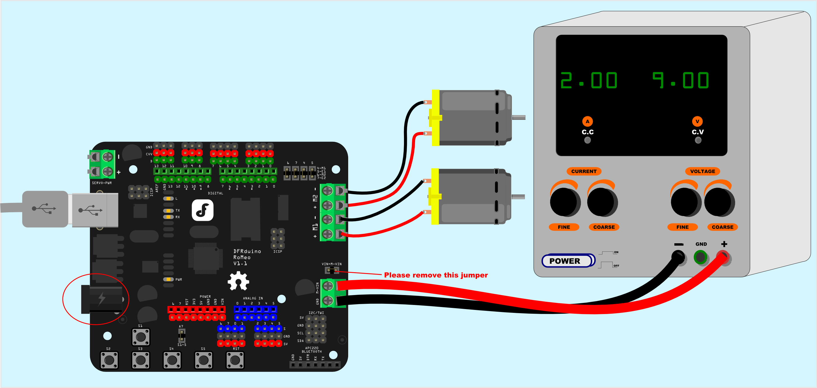 DFRduino_Romeo-All_in_one_Controller_V1.1_SKU_DFR0004_-DFRobot Dc Motor Sd Controller Schematic on