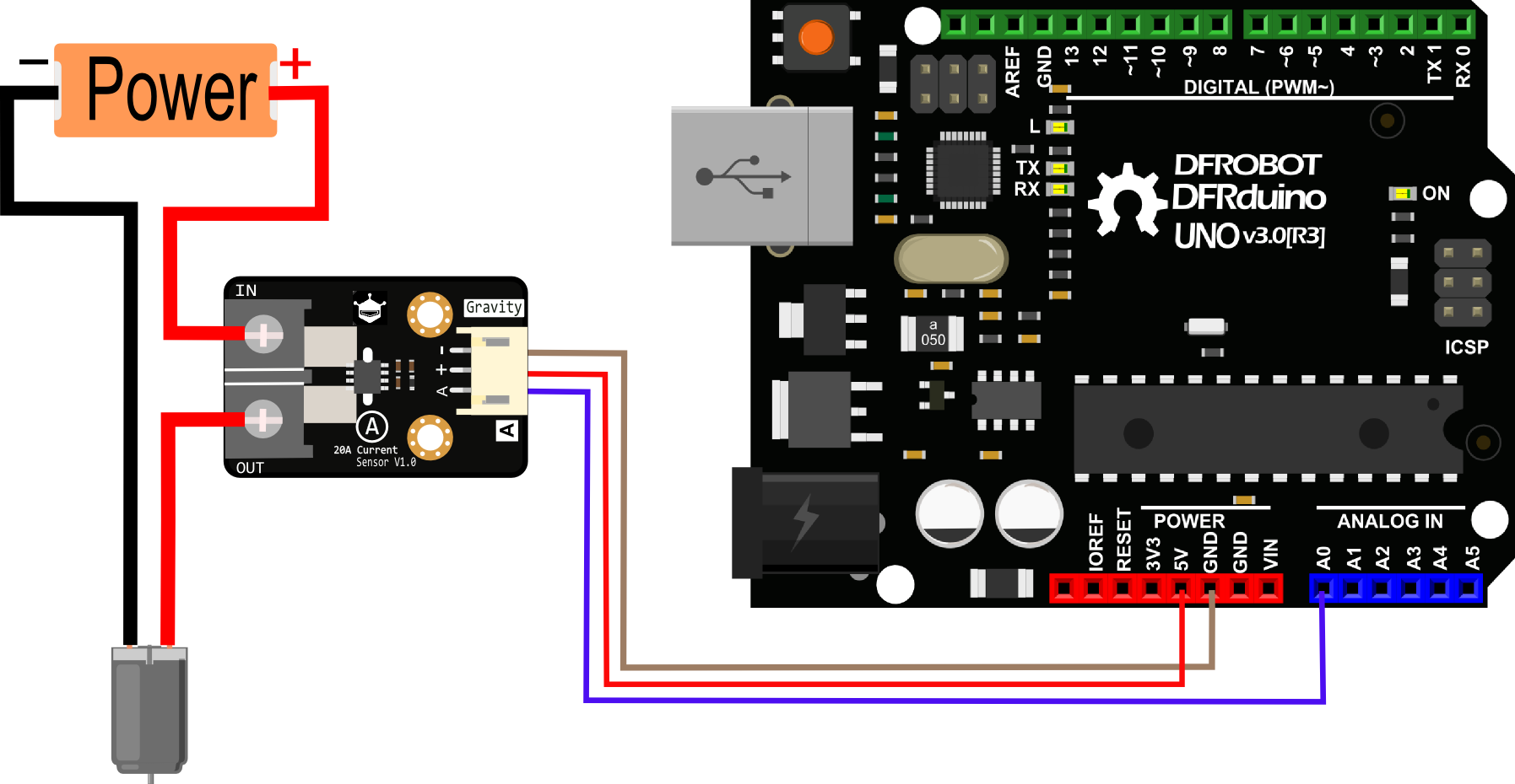 Gravity: Analog 20A Current Sensor wiki- DFRobot