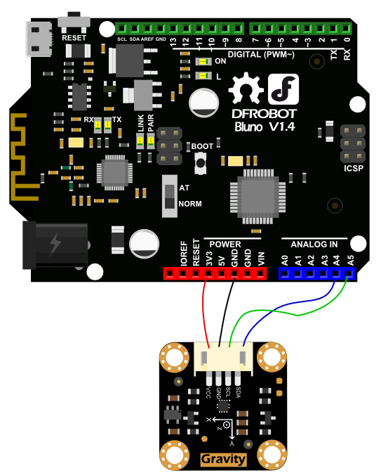 Arduino LIS2DH 3 Axis Accelerometer