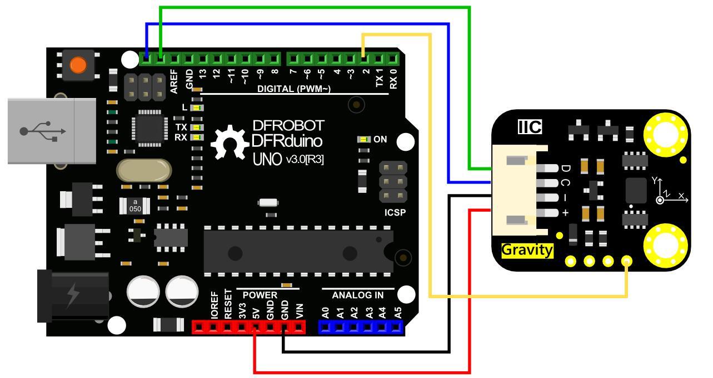 Arduino UNO-BMI160 6-Axis IMU Sensor
