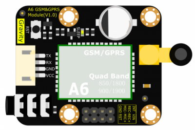 Gravity: UART A6 GSM & GPRS Module Overview
