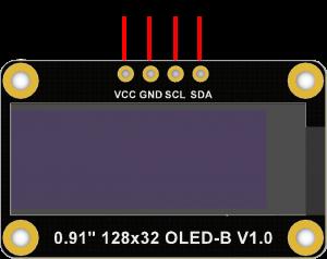 """0.91""""_128x32_OLED-B Pinmap"""