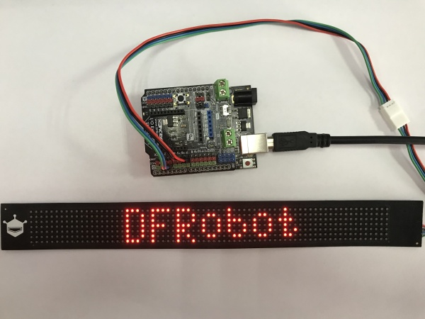 Arduino Flexible Matrix  Display Result