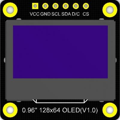 Monochrome 0.96inch 128x64 IIC SPI OLED display