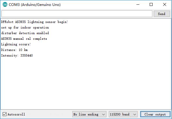 Gravity: Lightning Sensor SKU: SEN0290-DFRobot