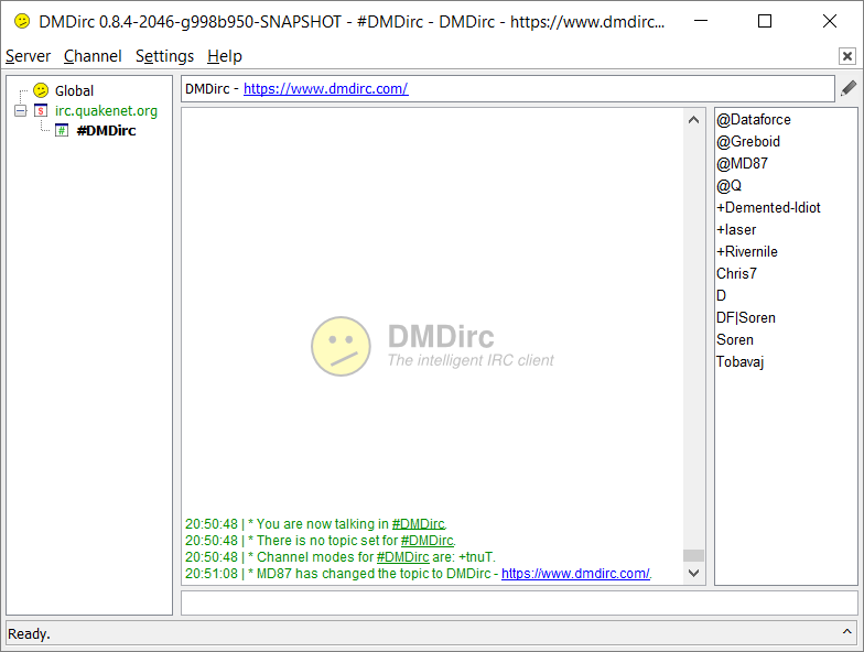 DMDirc Screenshot