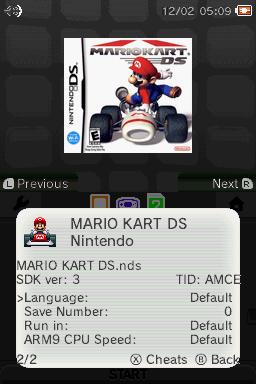 Per game settings