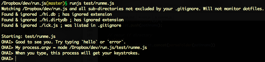 Screenshot of runjs