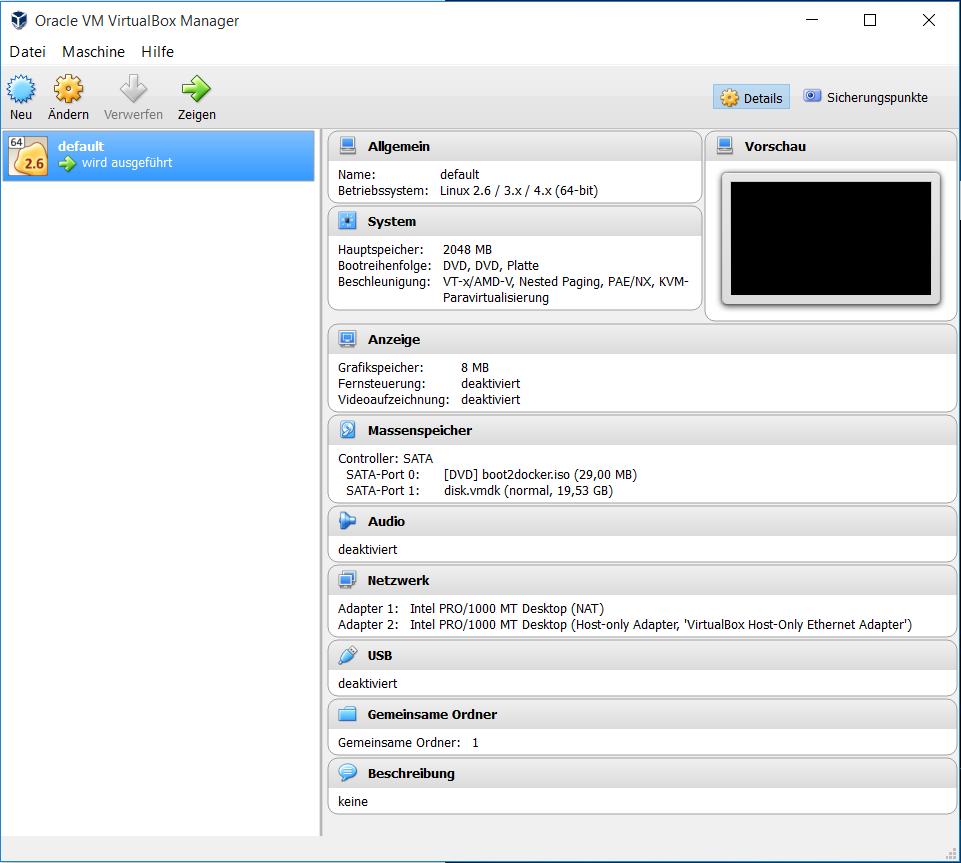 VirtualBox default screenshot