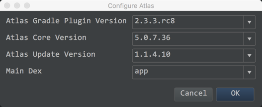 configureAtlasinProject
