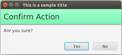 Result Example Dialog