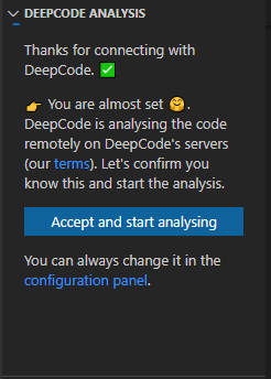 DeepCode Consent