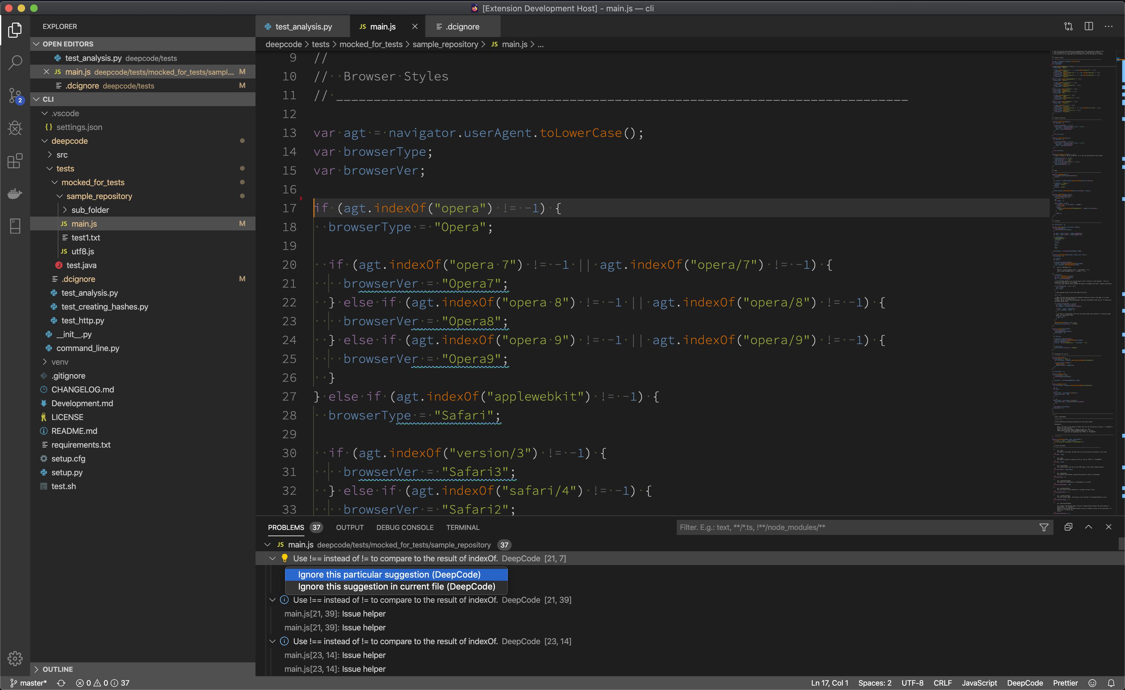 deepcode ignore menu