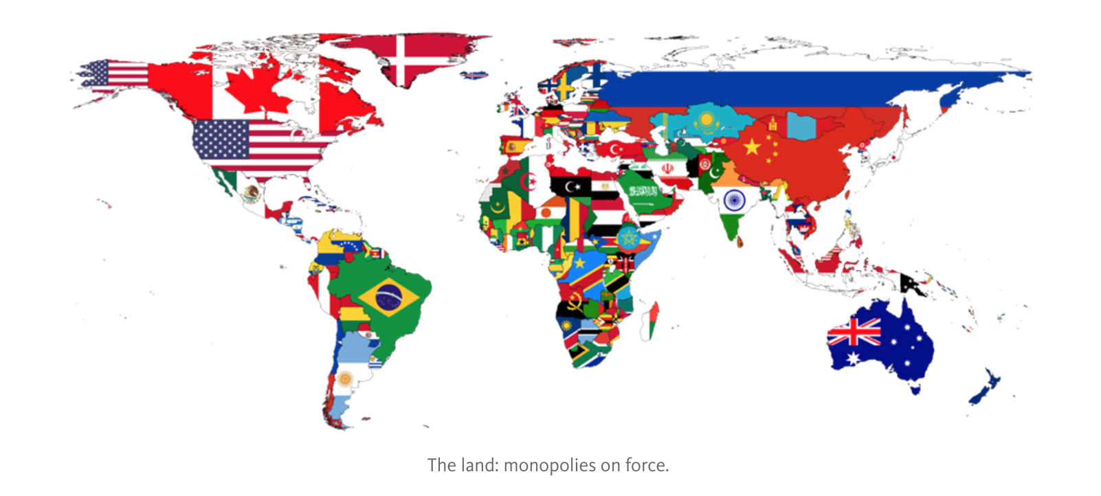 The land: monopolies on force.