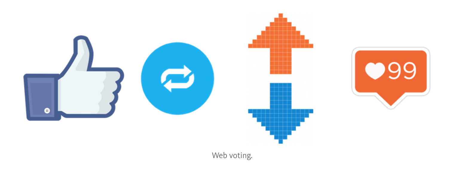 Web voting.