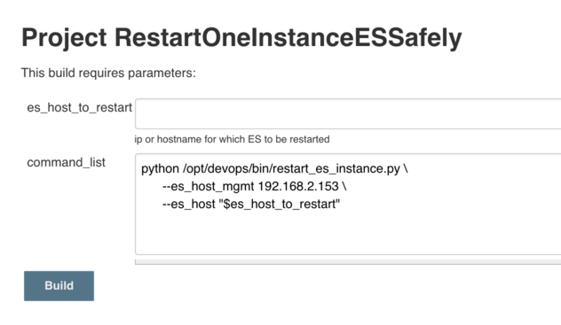 Restart One Elasticsearch Instance From Jenkins