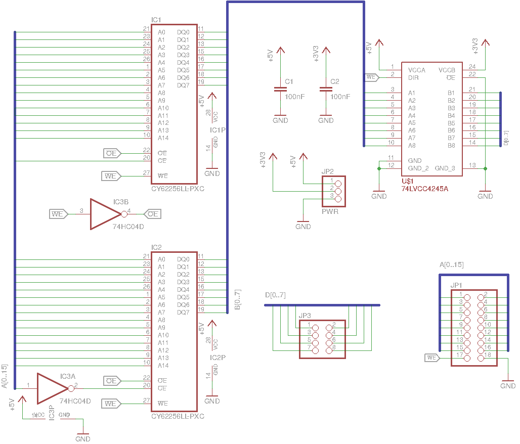 Memory board schematic