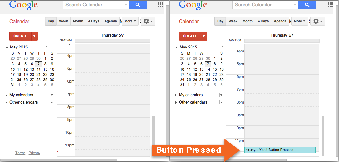 Create Google Calendar Entry From Email