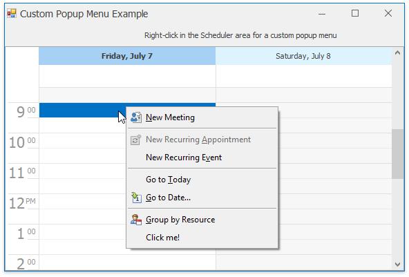 Devexpress scheduler example