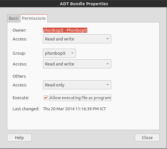 Allow executing file as a Program