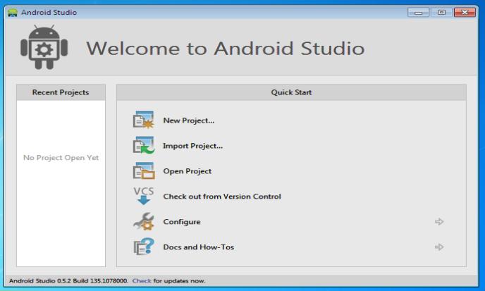 Finish install Android Studio
