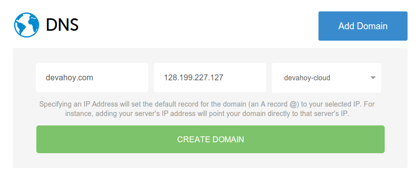Setup DNS